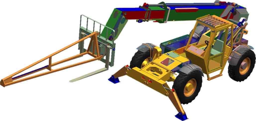 45 Ft x 8000 Lbs Telescopic Handler Fork Lift Truck