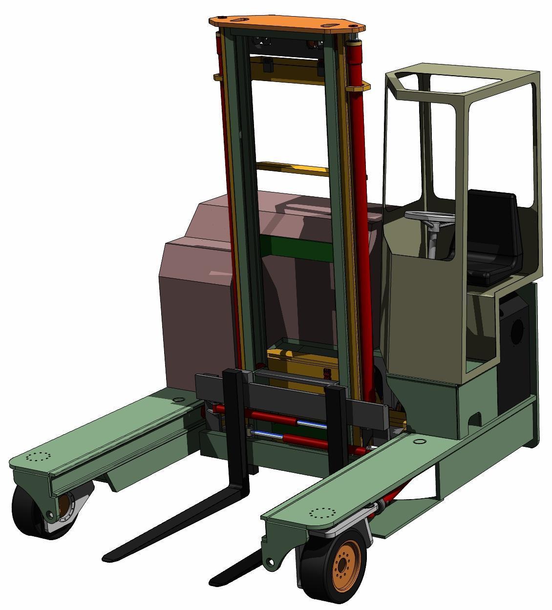 Zero Turning Radius Vertical Mast Fork Lift Truck