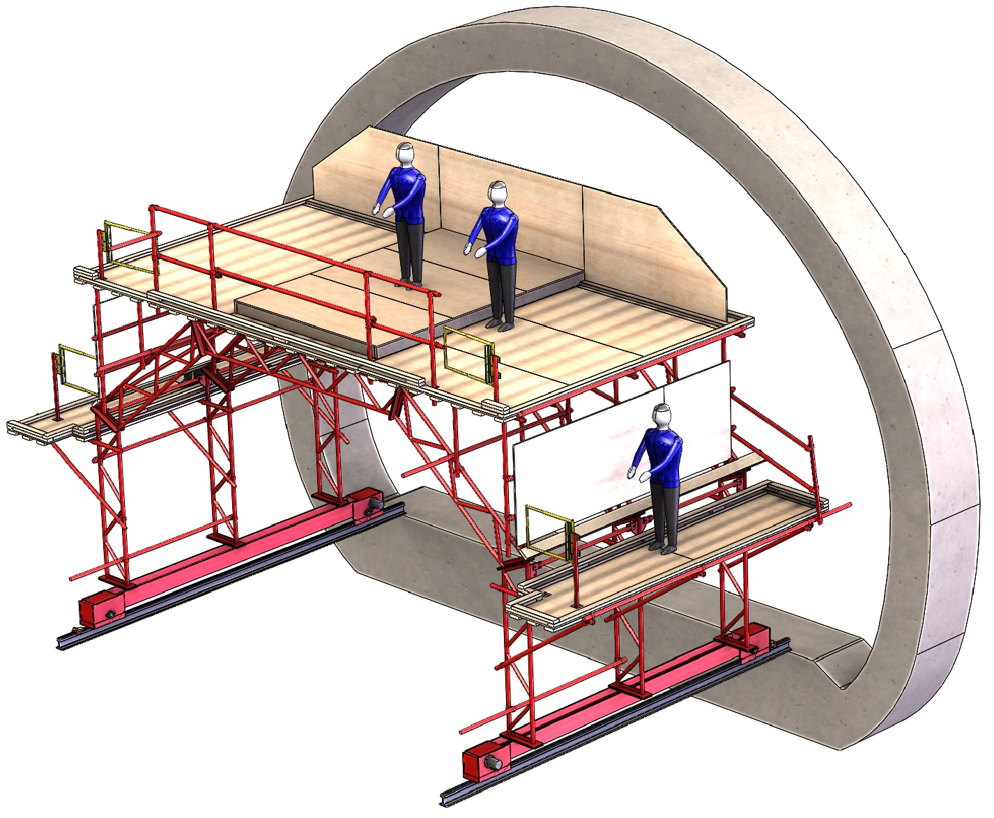 Self-propelled Tunnel WaterProofing Scaffolds