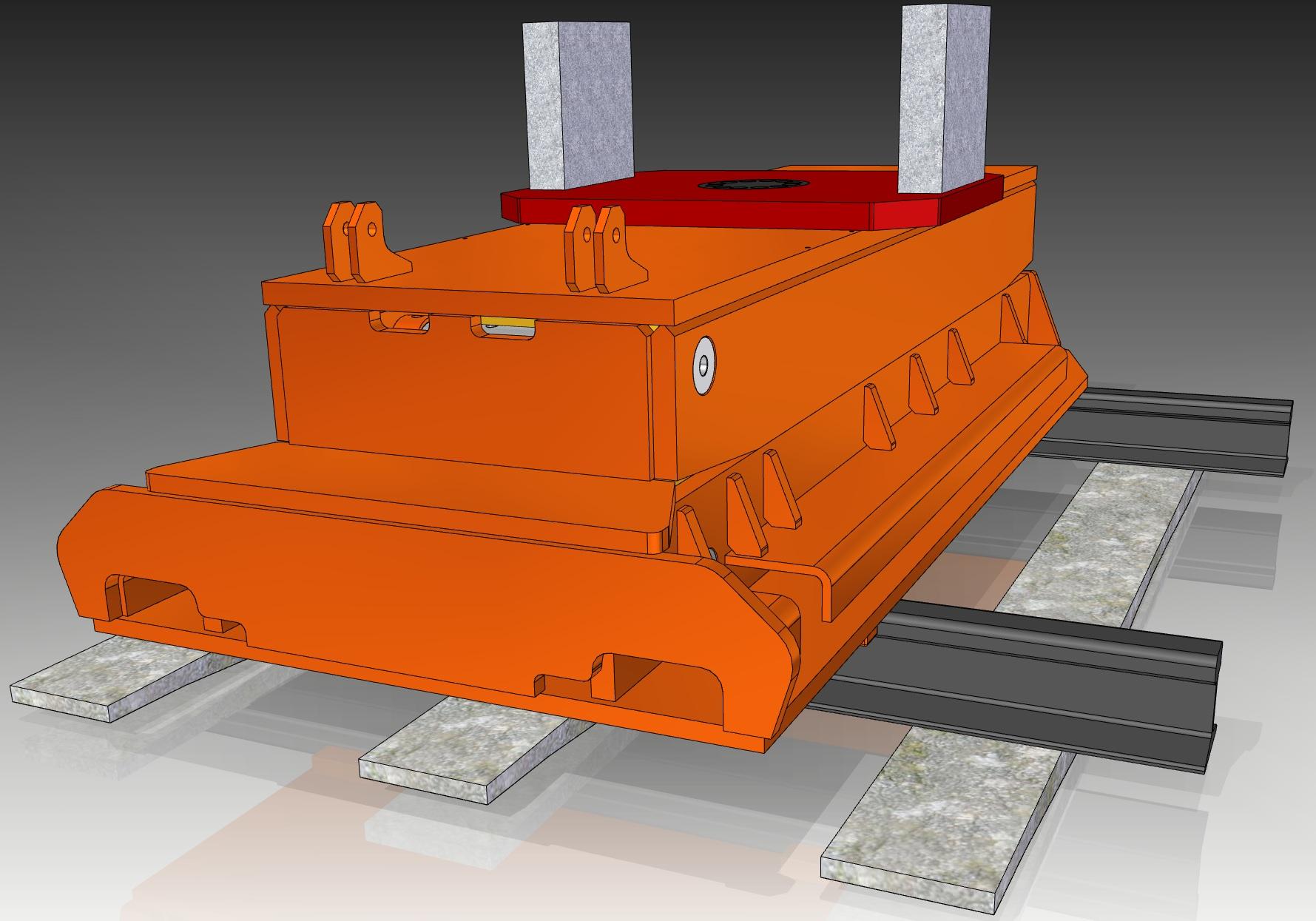 35 Ton Rail Car Jack with Rotating Base