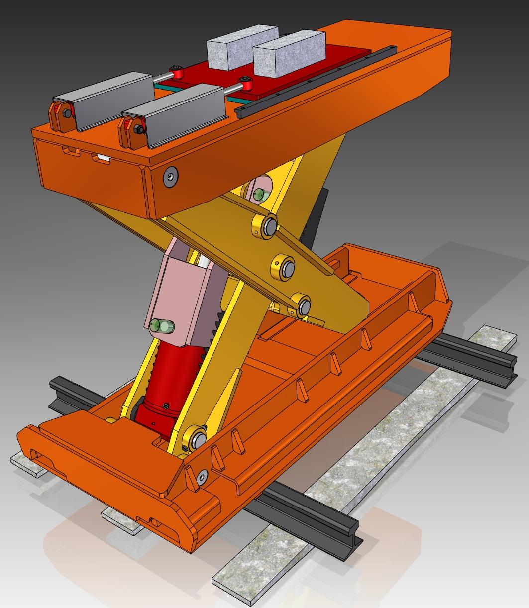 35 Ton Rail Car Jack with Side Shift
