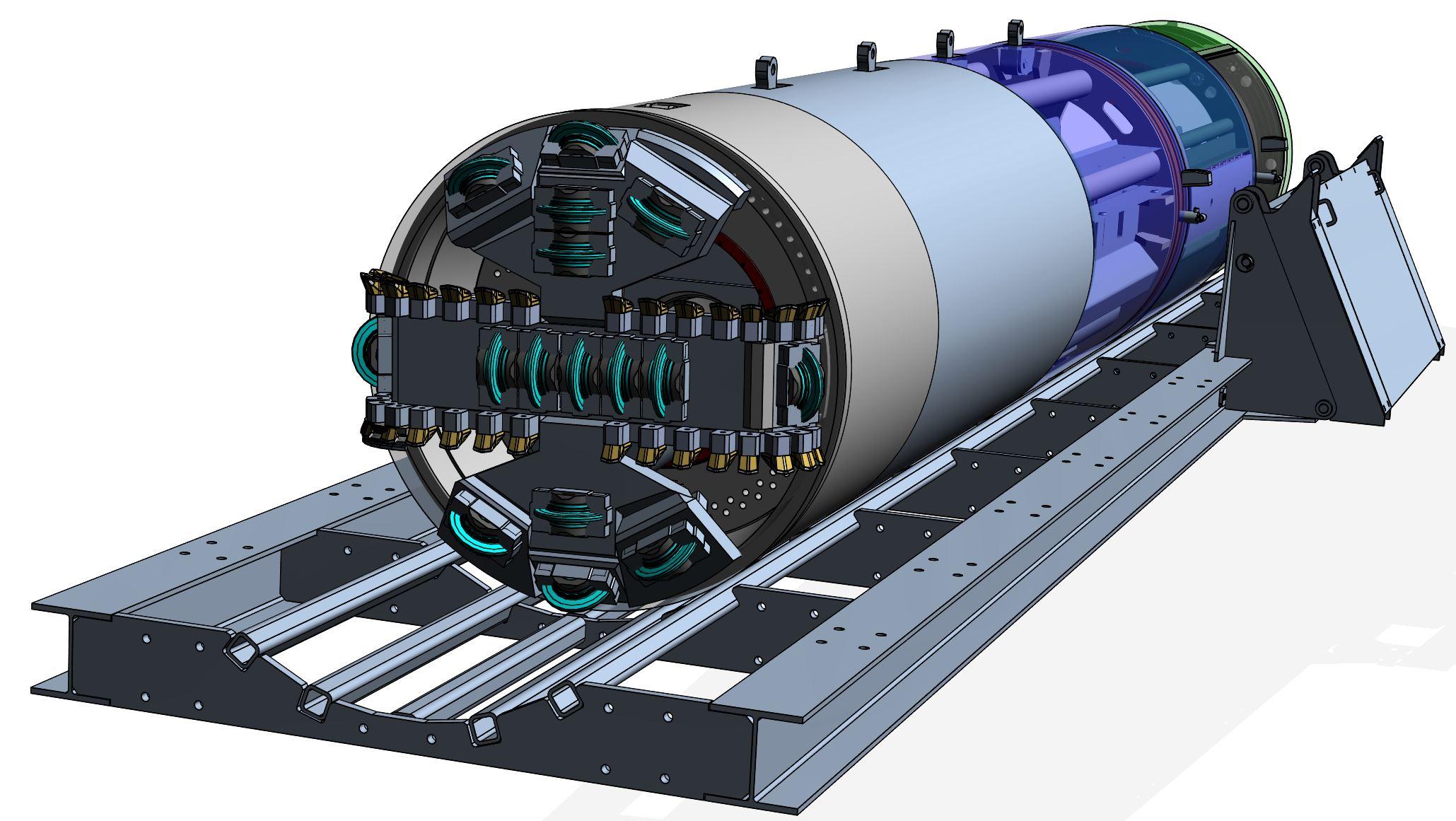 1,8 Meter Diameter Rock Tunnel Boring Machine for Tunnel Arch