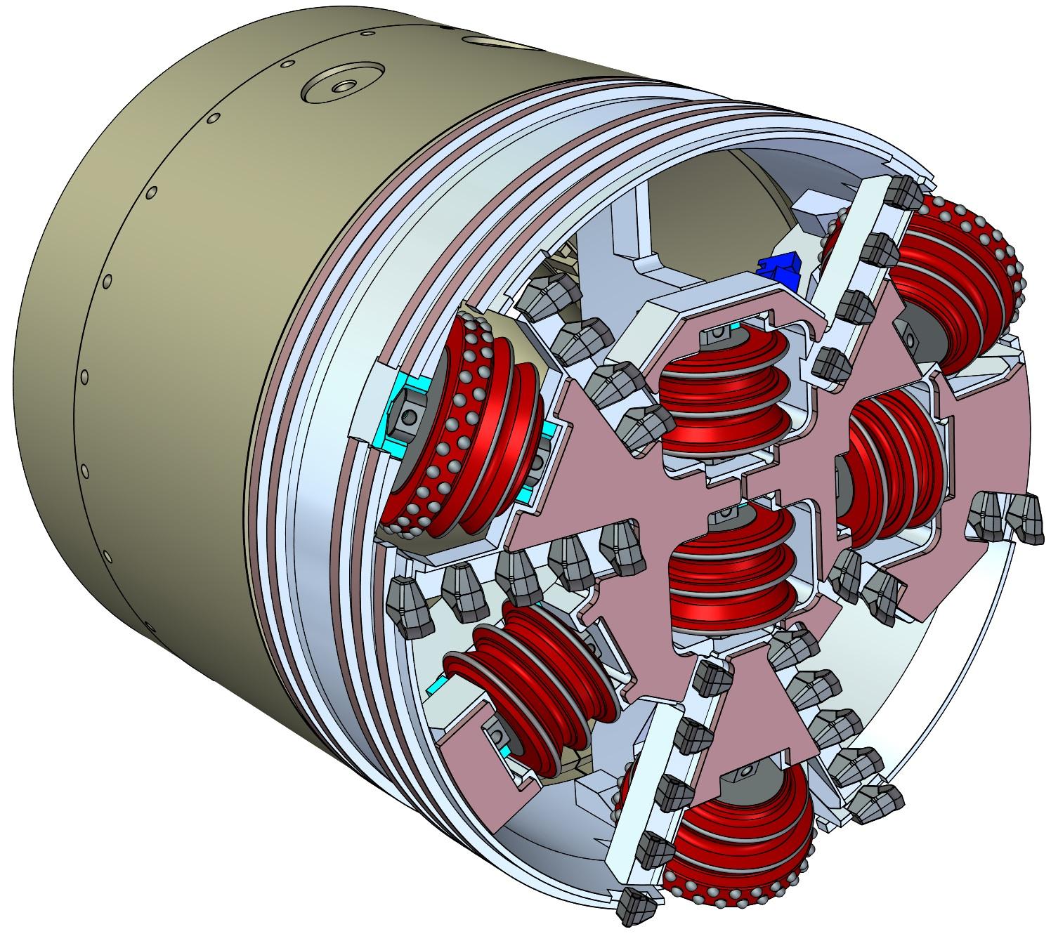 52.5 Inch Diameter Micro Tunnel Boring Machine Cutting Head with Rock Crusher