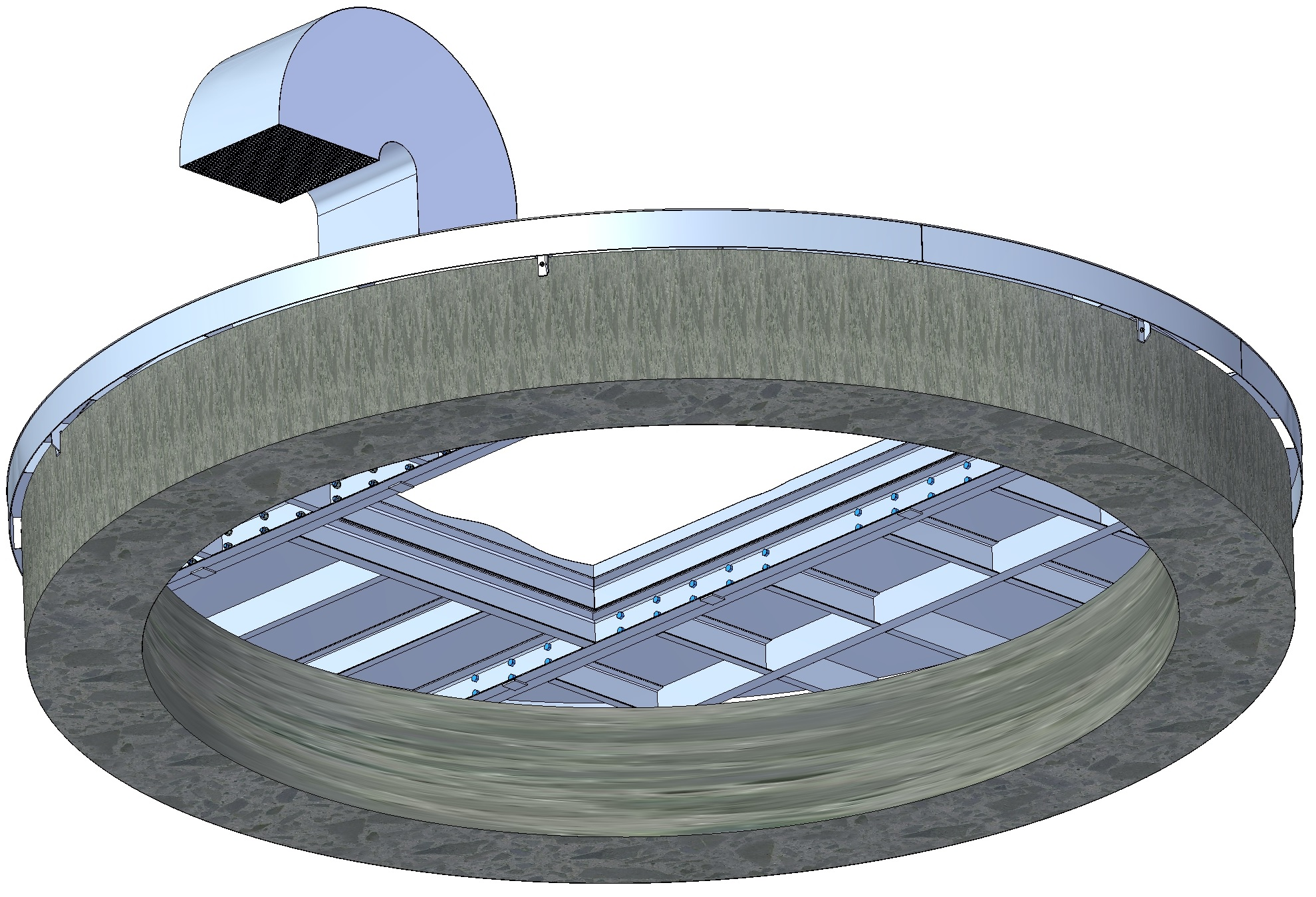 6 Meter Diameter Steel Cover for Deep In-ground Concrete Tunnel Shafts