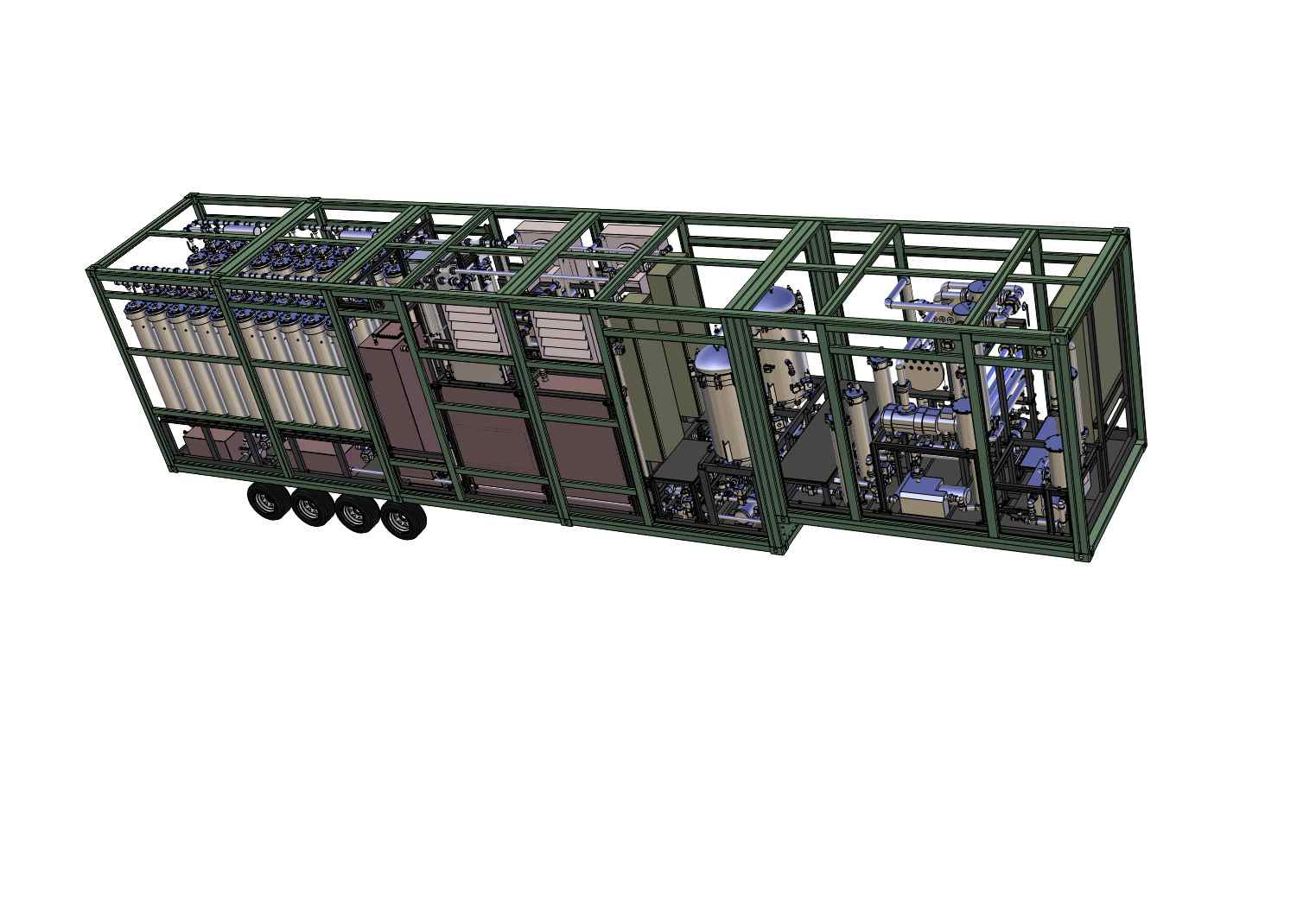 Oil Regeneration System in Mobile Container