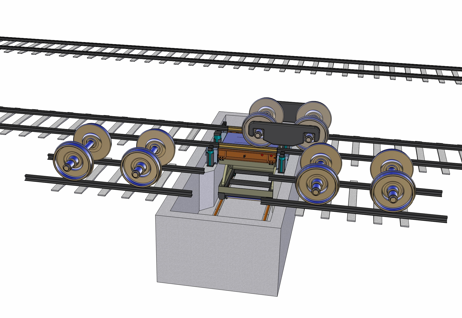 Rail Car and Locomotive In-ground Enclosed Pit Jack
