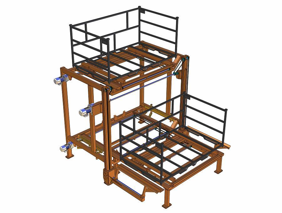 Over-Under Racking System for Automotive Body Welding