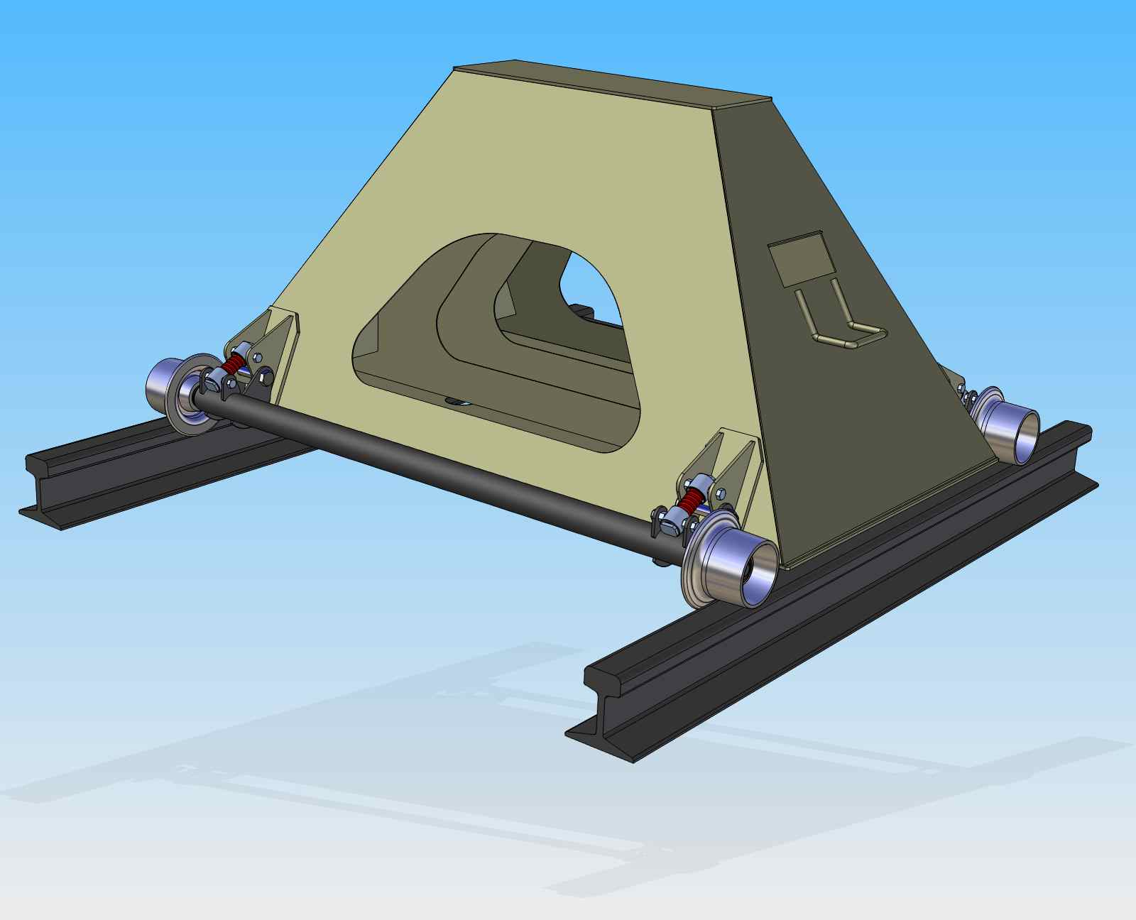 75 Ton Rail Car Stand with Outer Rollers