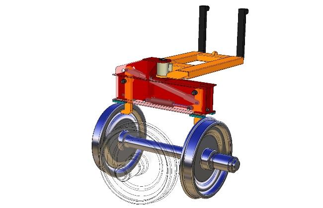 Rail Car Wheel Handle