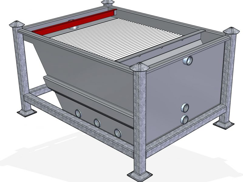 Lamella Filter to Separate Concrete from Water
