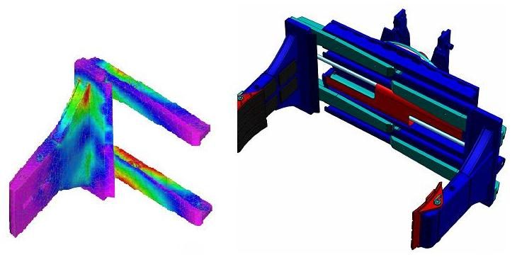 Fork Lift Truck Carriage FEA Stress and Deflection Analysis
