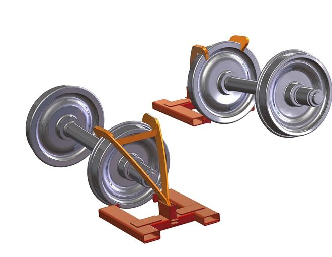 Rail Car Wheel Handler