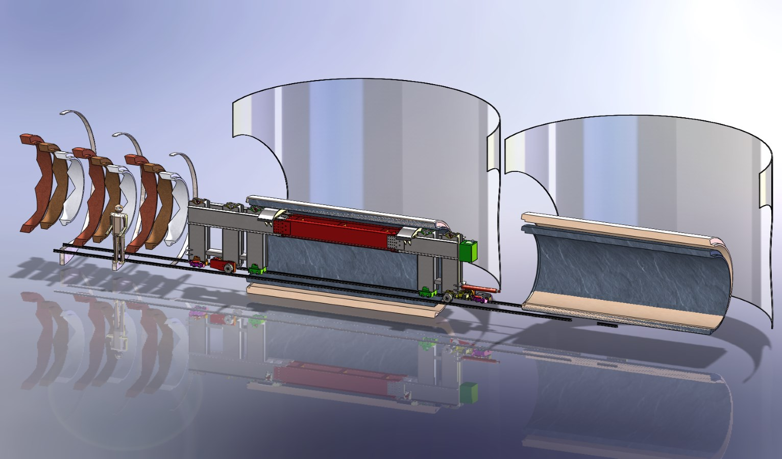 Tunnel Boring Pipe Carrier Concept Layout