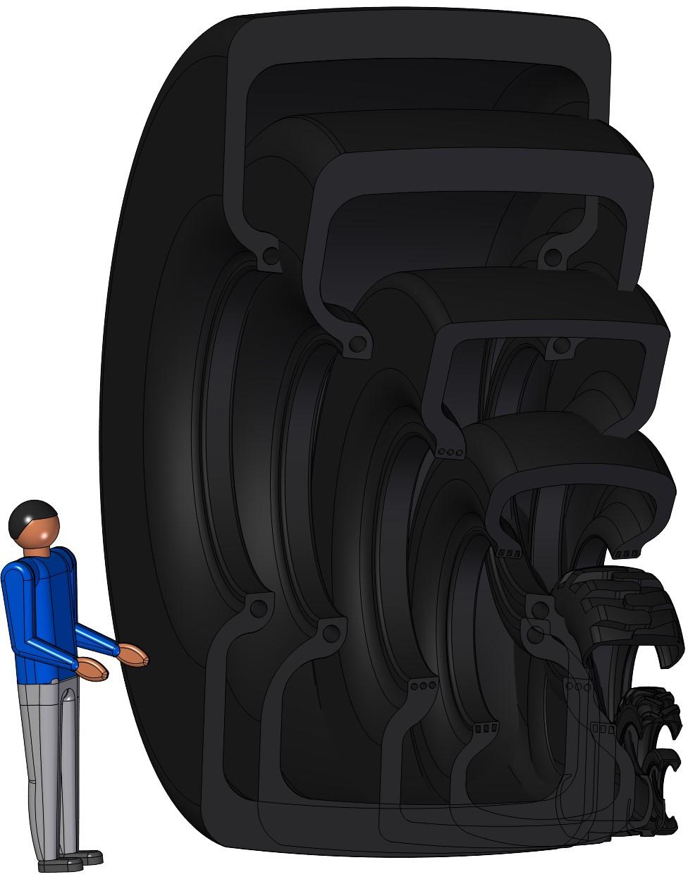Large Tire Size Range