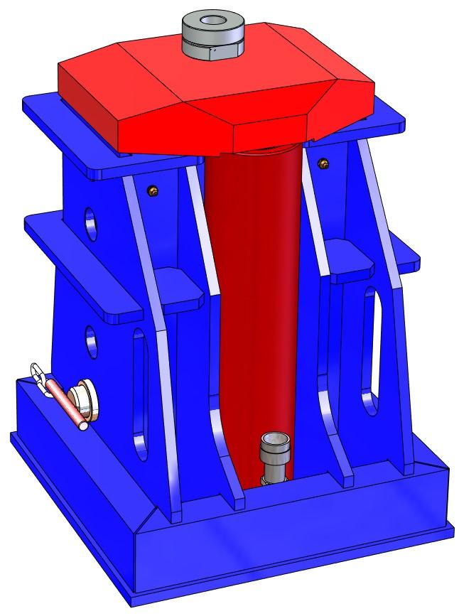 25 Ton Hydraulic Jack – Retracted