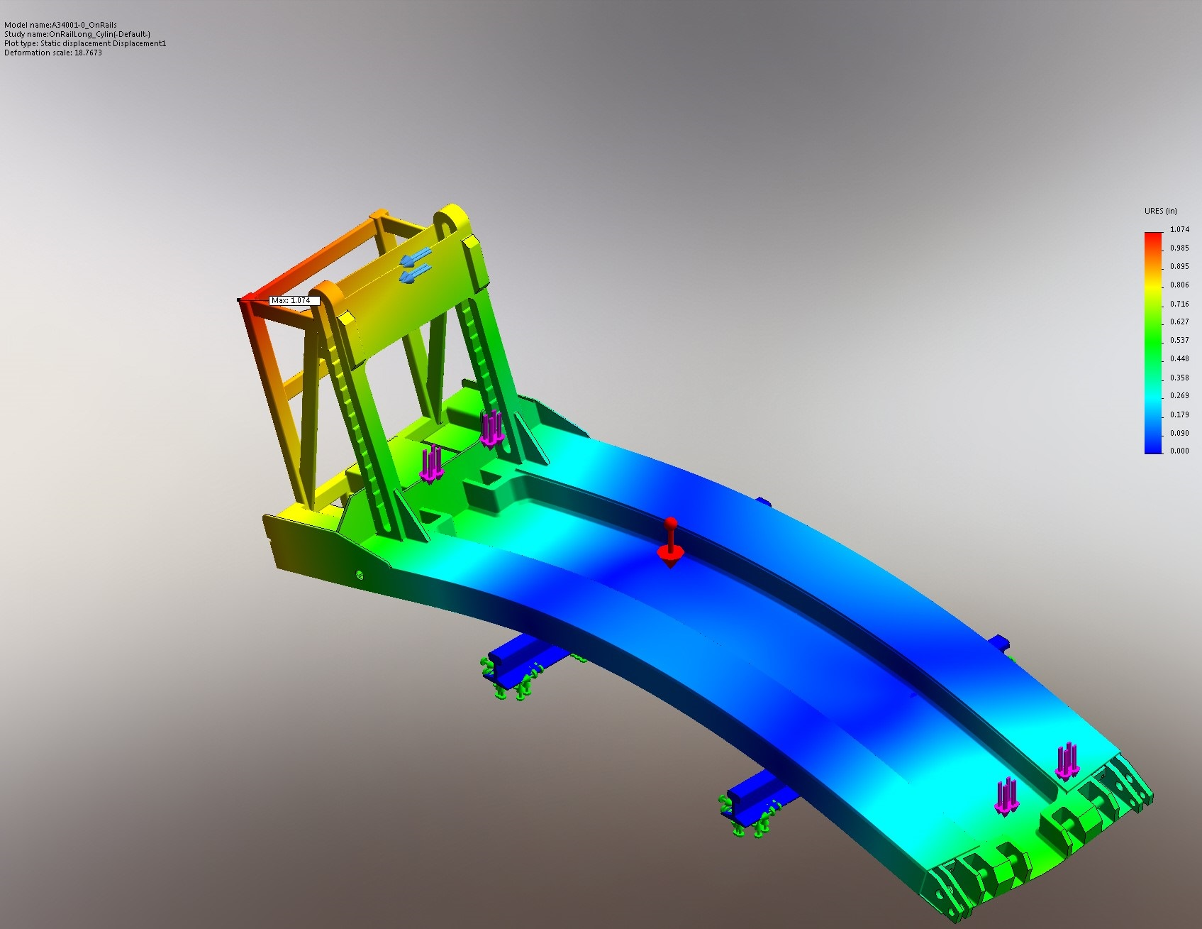 Double Stack Car Jack, Frame Displacement 2