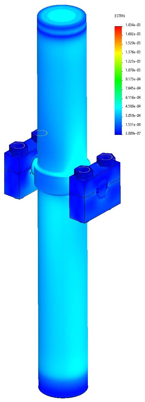 Mounted Hydraulic Cylinder FEA Strain