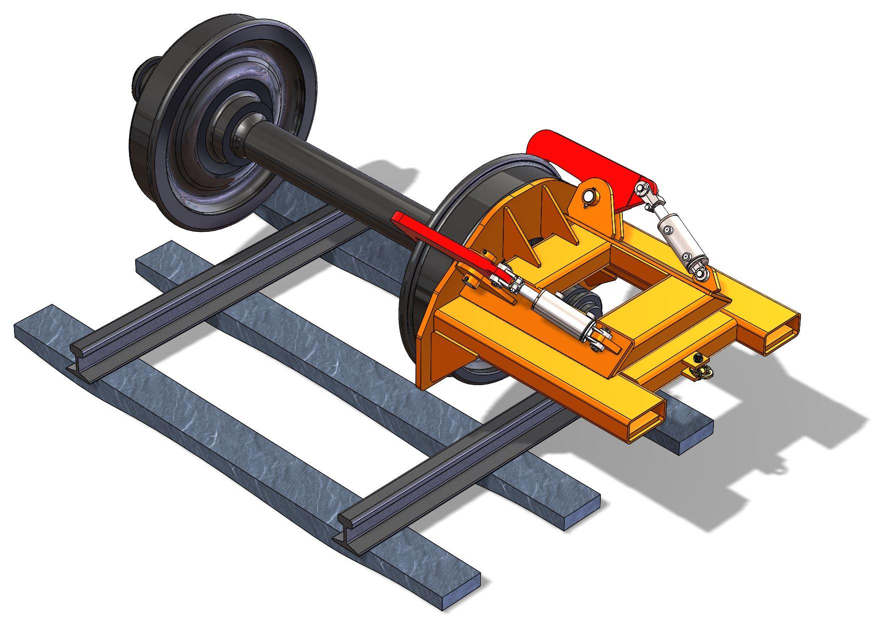 Rail Wheel Handler, Front View