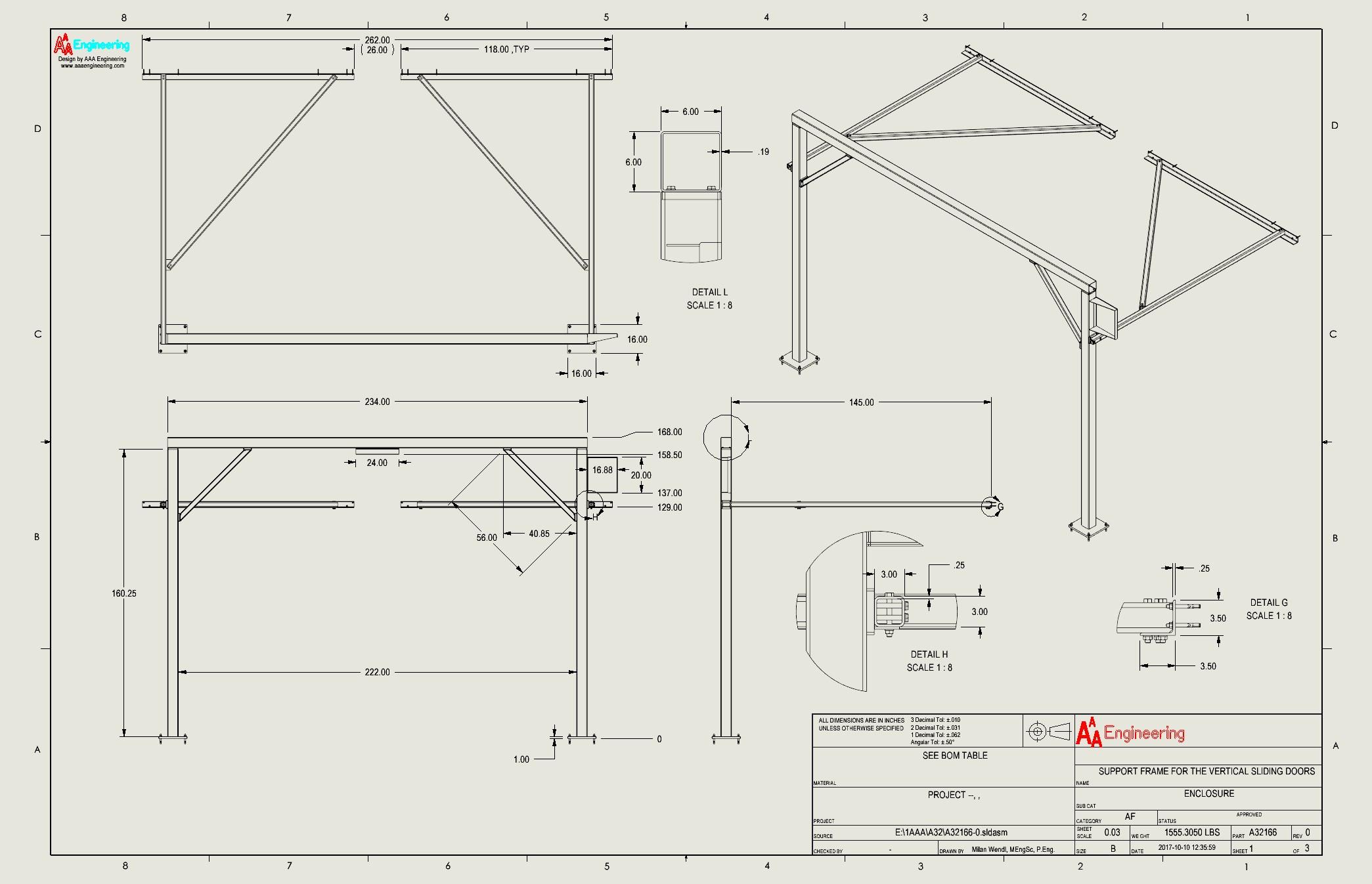Vertical Sliding Door Support System 2