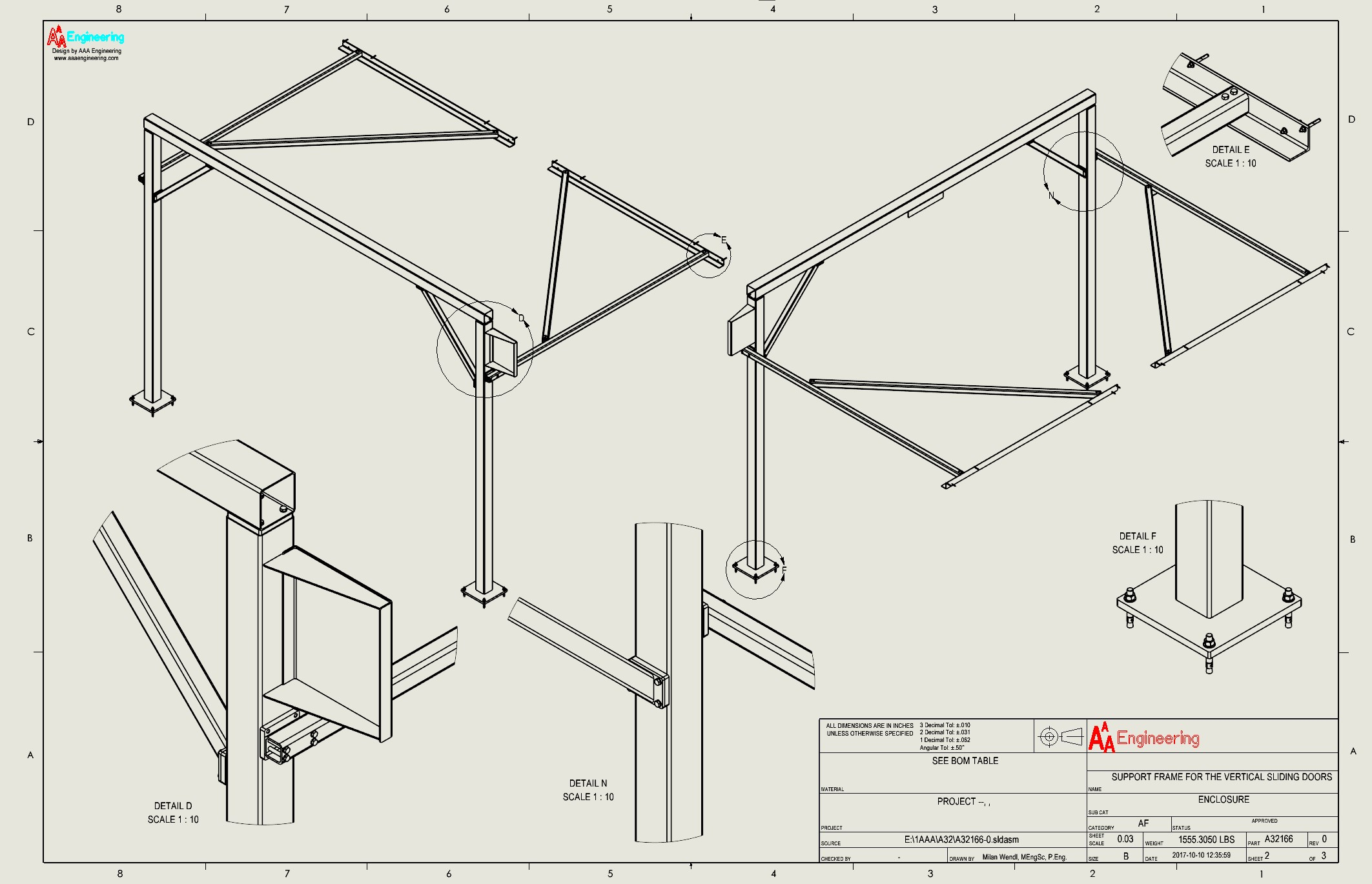 Vertical Sliding Door Support System 3
