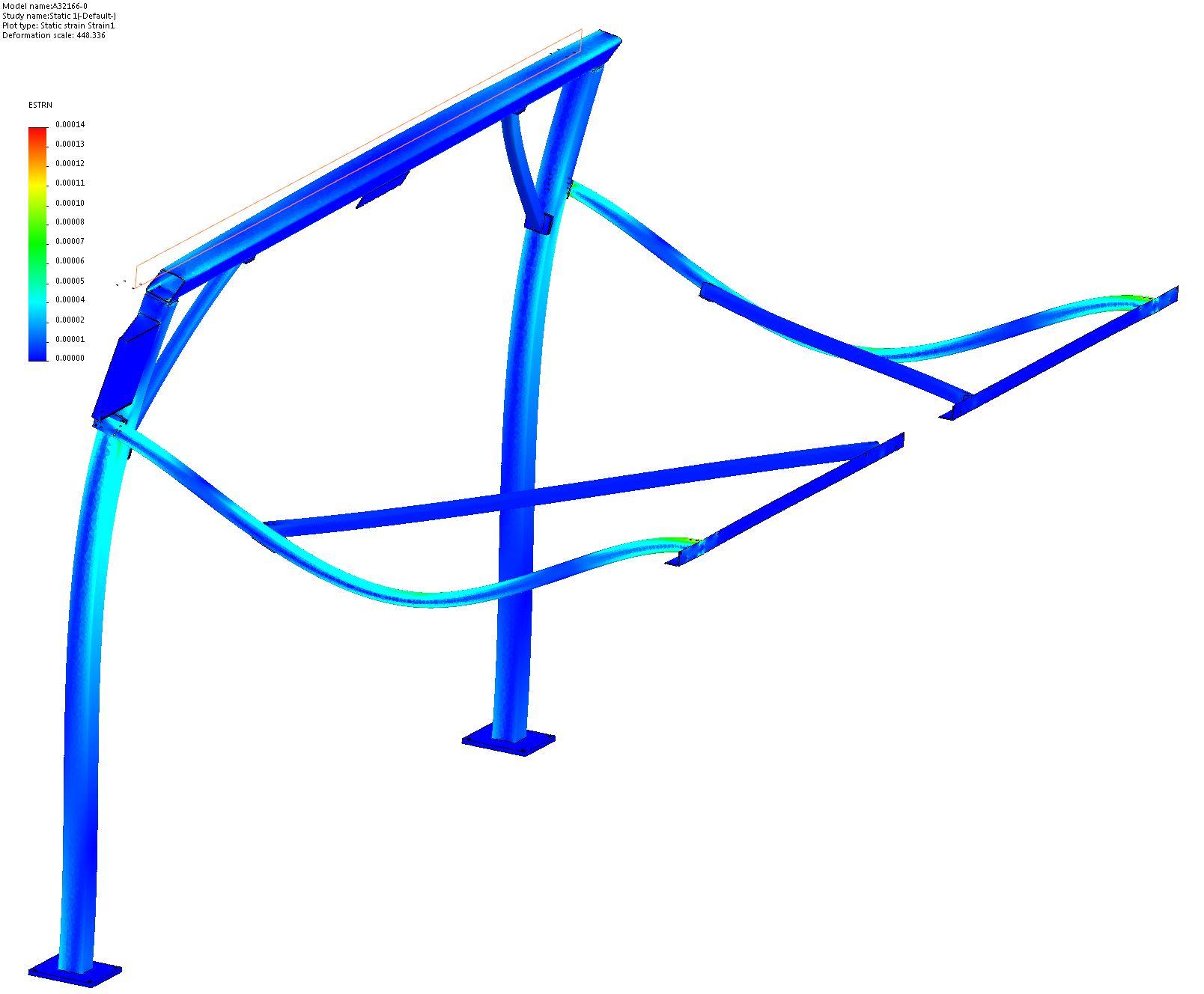 Vertical Sliding Door Support System FEA 6