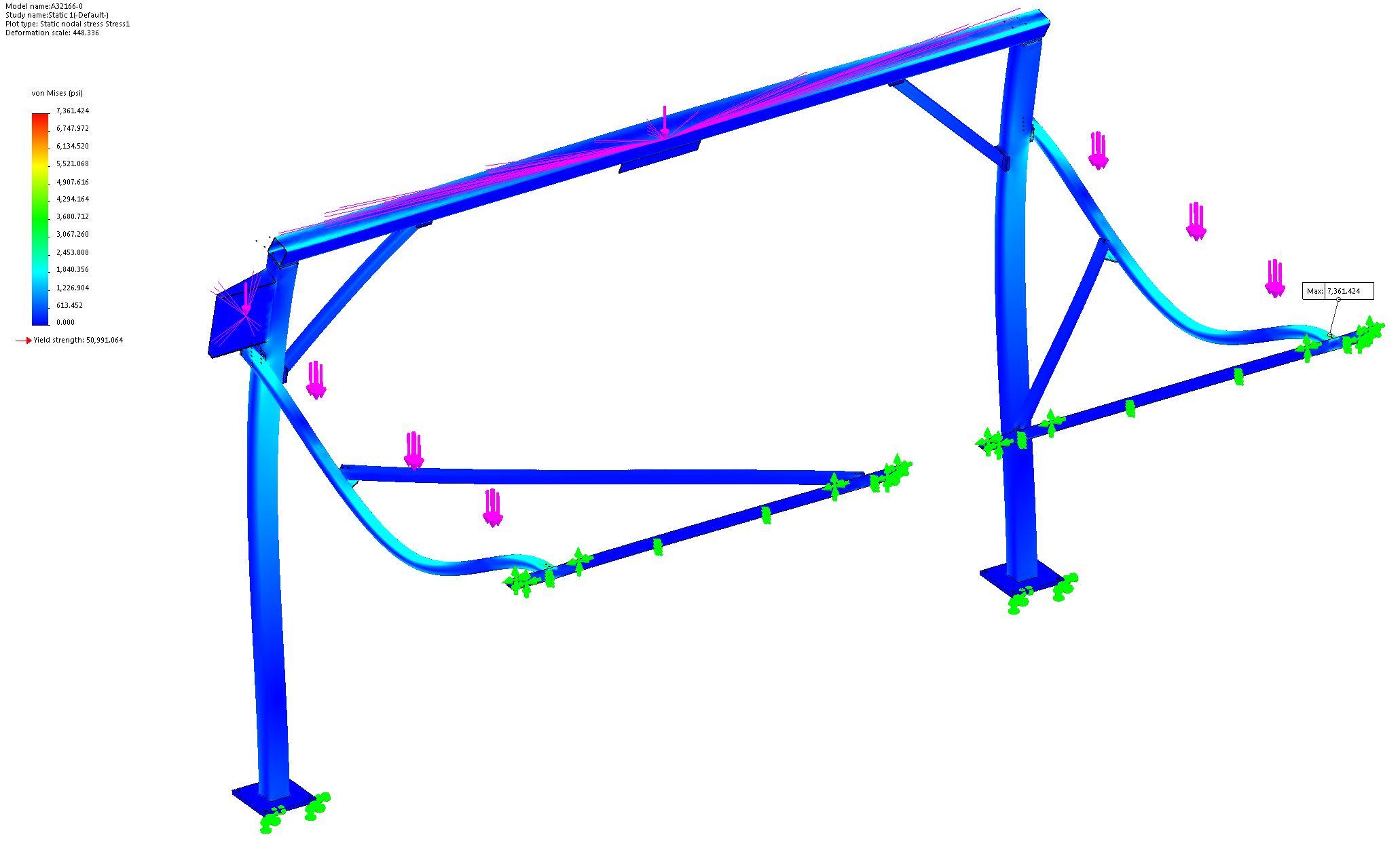 Vertical Sliding Door Support System FEA 7