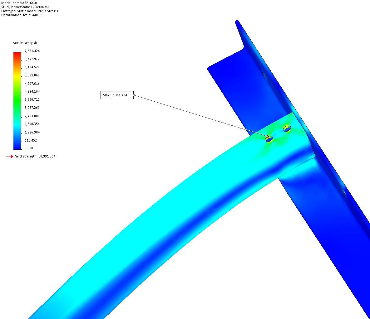 Vertical Sliding Door Support System FEA 8