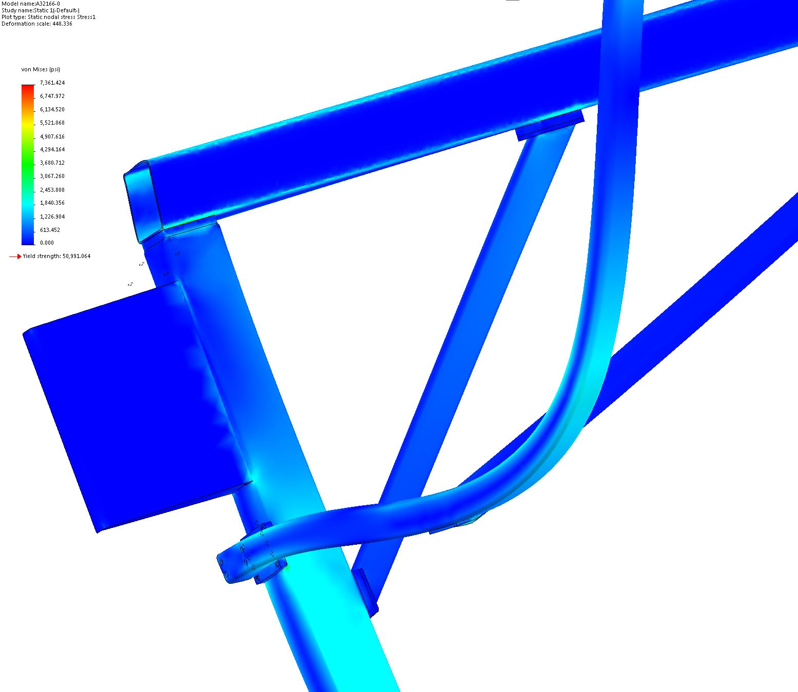 Vertical Sliding Door Support System FEA 10
